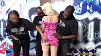 Jenna Ivory Serves A Gang Of Black Men With Her...