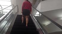 Culote en escaleras eléctricas