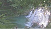 Cocktail Waterfall Scene - Good Quality