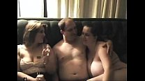 On real threesome Girls don't stop after man cums