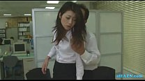 Office Lady Getting Her Hairy Pussy Licked Fing...