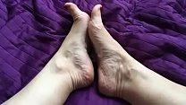 Cum on My Feet SlowMo 240 fps by HotwifeVenus
