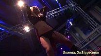 milf sex show on public stage