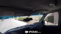 POVD - Hot hitchhiker Ashley Adams knows how to...