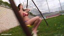 Sandra B with bouncing big boobs having gonzo s...
