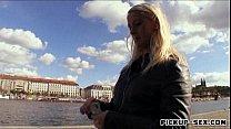 Amateur blonde Eurobabe Tonya pounded for alot of money