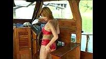 shiny red bikini dress