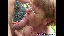fucking farm outdoor glasses in Granny