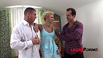 Anastasia Devine classic sex with 2 guys HG032