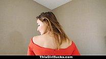 ThisGirlSucks - Curvy Babe Orgasms From Sucking Cock