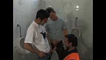 Argentinian guys fuck in a restroom