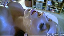 Sexy Blonde Gets Oily Fuck 10
