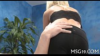 Masseuse enjoys one-eyed monster insertion