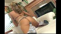 Denise masturbates in stockings