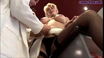 Gorgeous italian blonde MILF DP fuck