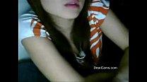 Fair cute Asian webcam stripping