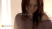 ORGASMS Natural redhead teen with great body an...
