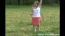 Nubile 18yo Kitty playing with a kite