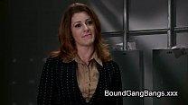 Bdsm redhead babe Cici Rhodes fucked by constru...