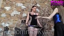 Flogging Slavegirl LESDOM KYAA GODDESS WORSHIP