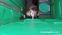 First time blonde con camera sucks dick in public
