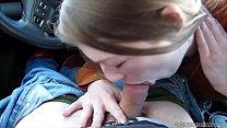 Gemma Minx sucking in the car