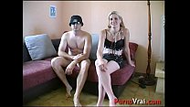 Fuck a blonde mature at home with a stanger! F...