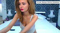 Web Cam Girl Showing Perfect Ass and Pussy