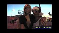 Sinn Sage & Tara Lynn Fox - Dueling Public Flashers 1