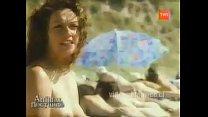 Marisela Santibañez desnuda en playa nudista