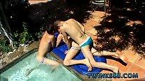 Xxx circle group gay porn Ayden, Kayden & Shane - Pooltime Threeway!