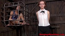BDSM sub Hazel Hypnotic walks the line