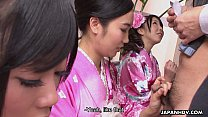 cock lonely one on sucking geishas Three