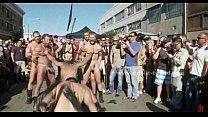 Gay man in leather leish sadomaso gang