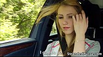 cumshots receives and car the in hard fucked gets beatrix girl euro pretty Damn