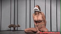 Tattooed submissive tiedup by black master