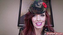 Shanda Fay Gives A Salute to the Soldiers With a Pussy Pounding!