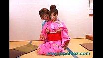 Japanese Asian Kimono Wearing Sluts Have Lesbian Sex