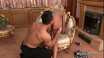 Blonde European babe with big tits gets