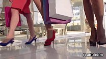 Charming czech girl is seduced in the shopping ...