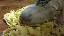 【fetish】Pasta food crush Adidas Sneaker