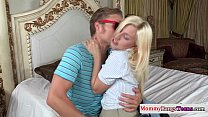 Pretty mommy sharing the load with teen