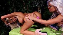 Britney Amber Halloween Lesbian Fun