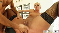Ass Traffic Big ass blonde squirts as she's fuc...