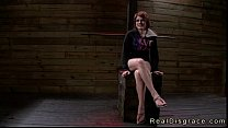 Huge tits redhead Velma DeArmond in bdsm pussy and throat fucked