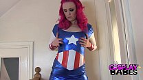 COSPLAY BABES Miss America masturbating