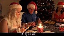 Mr Nobel Santa's helper fucks the nasty girl to punish them