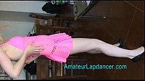 Blonde lapdancing first-timer