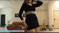 Striptease and lapdance by cute 18yo czech student