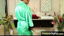 NuruMassage Teen Slides Oily Pussy on Cock 19